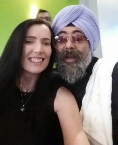 With Hardeep Singh Kohli at Merchant Bistro