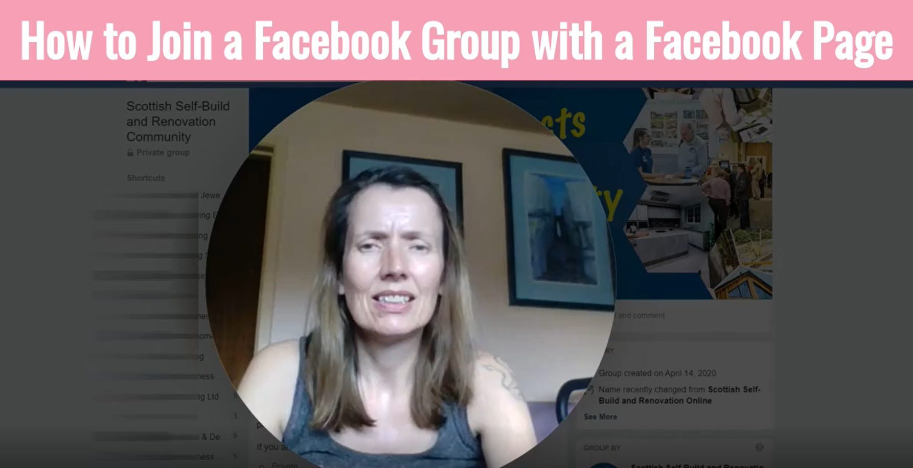How to join a Facebook Group with a Facebook Page
